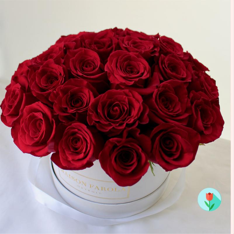 Envía a domicilio Rosas rojas en caja