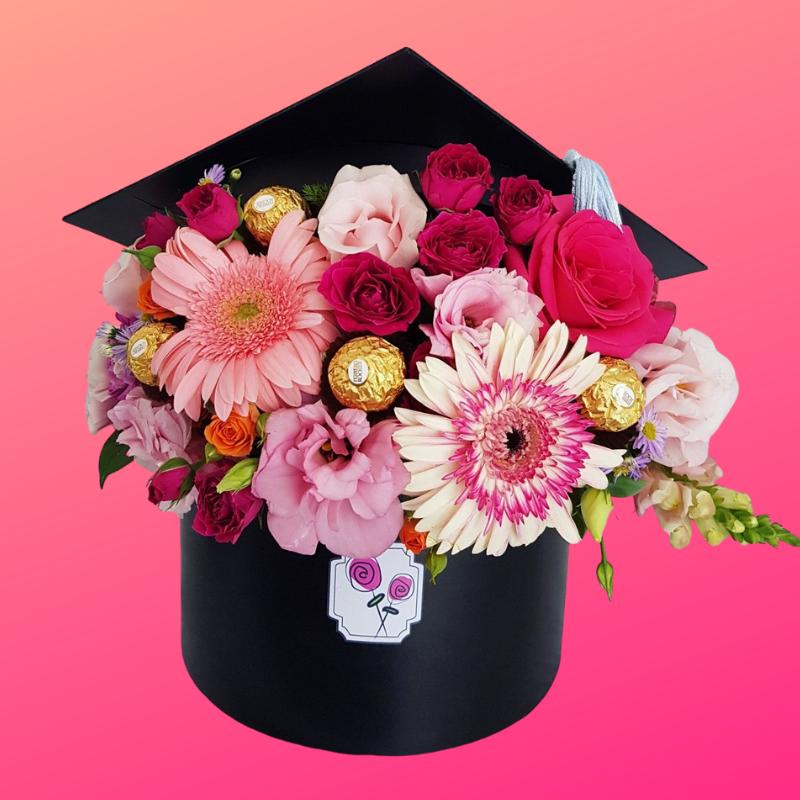 Flores para graduacion chocolates