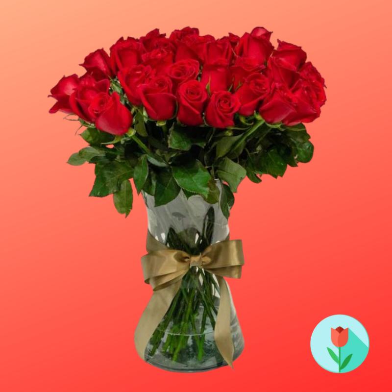 24 rosas rojas a domicilio