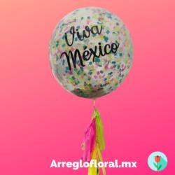 Globo transparente viva mexico