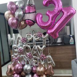 Bouquet de globos metalicos a domicilio