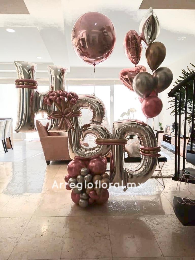 Bouquet de globos de cumpleaños