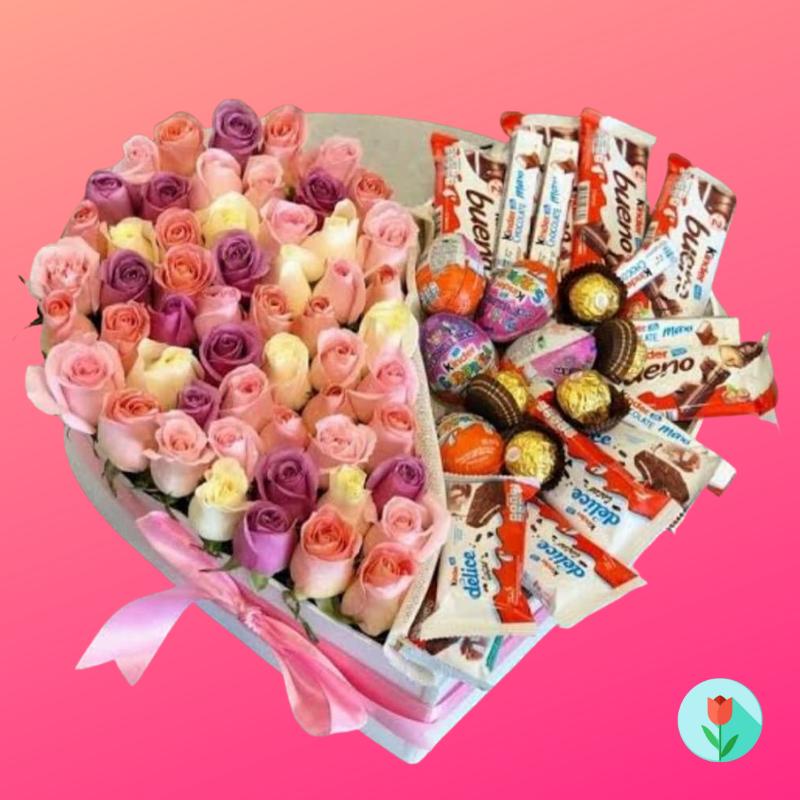 Caja de regalo con chocolates