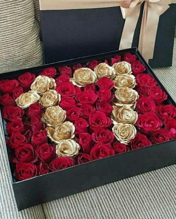 Caja con numeros de rosas a domicilio