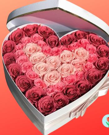 corazon con rosas a domicilio