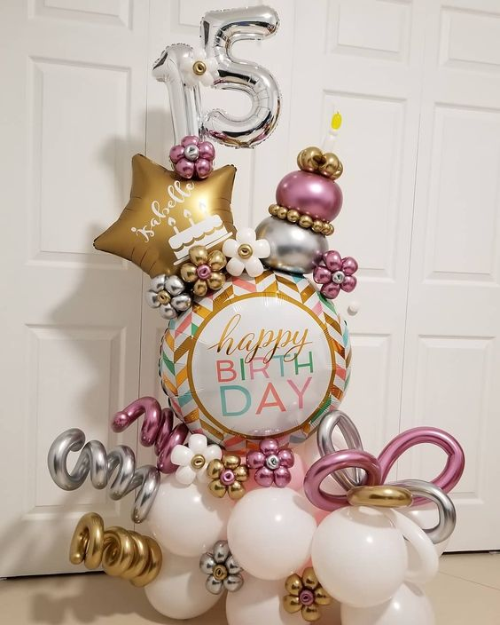 Bouquet de globos XV años