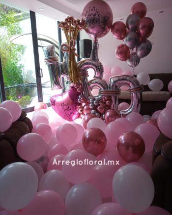 Decoración con 200 globos & Bouquet HDB