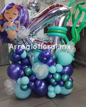 Bouquet de Globos Sirenita 4 años